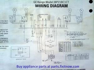 GE Range Model JBP21BC1CT Wiring Diagram   Fixitnow