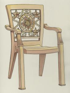 2005 Texas Theme Chair
