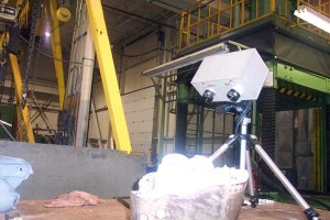 Scanning in a factory on site