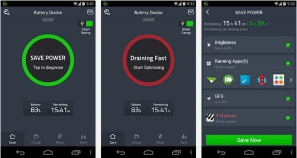 app ahorrador batería battery doctor