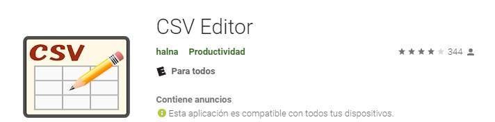 Apps para crear cuadros sinópticos CSV Editor