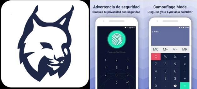 logo contraseña y camuflaje en lynx app