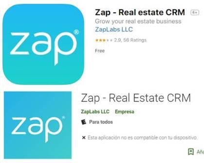 zap - real estate crm en google play y app store
