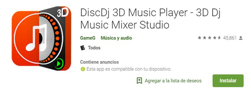 discdj 3d music player en google play store