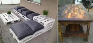 ideas en la aplicación muebles de palets