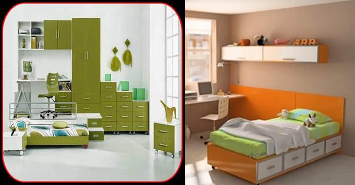 logo y ejemplo de diseño de camas para adolescentes