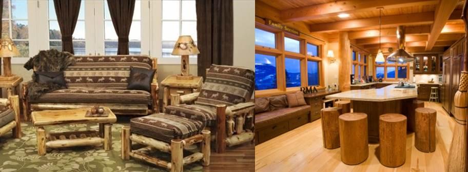 muebles de madera en la aplicación