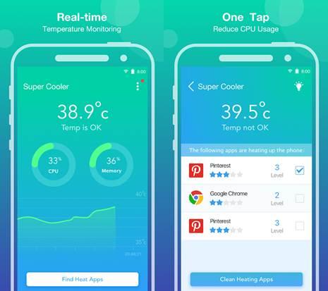 funcionamiento de la app súper cooler