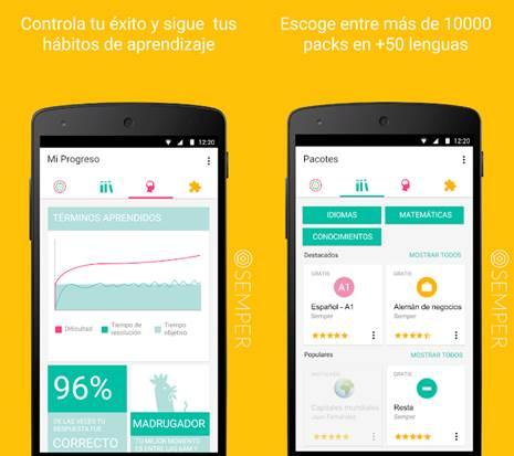 características de la app semper