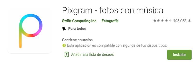 descargar pixgram en google play