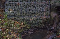 To the left, we can see that gabions have been used to hold back the slumping riverbank.