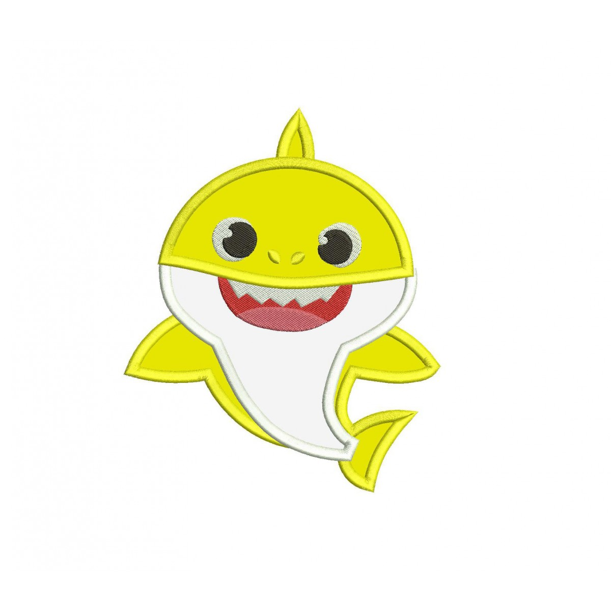 Baby Shark Shark Family Applique Design