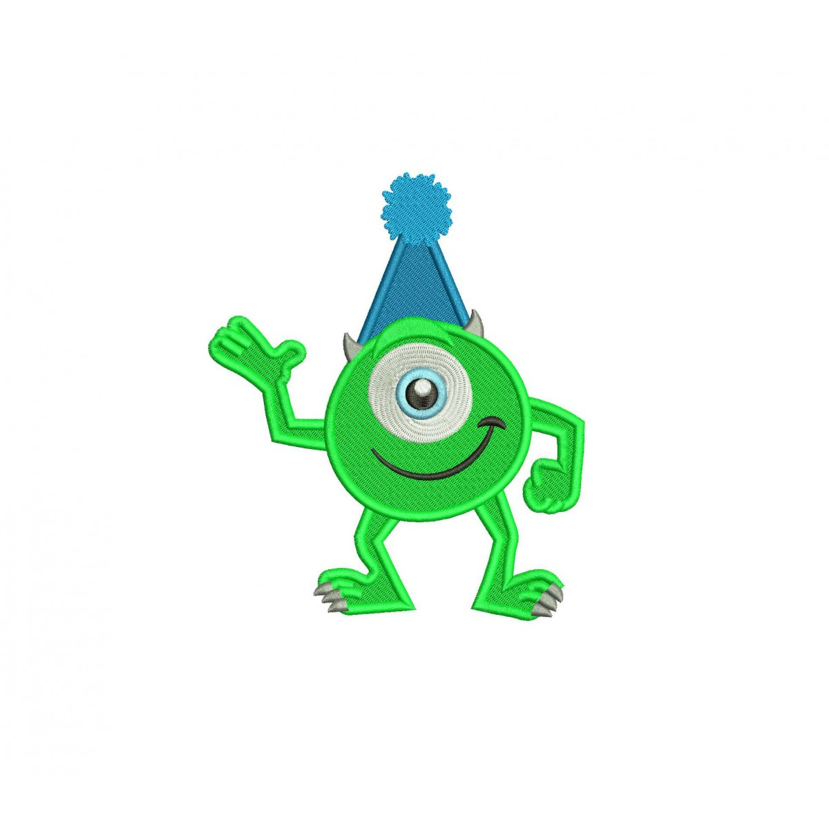 Mike With A Hat Birthday Mike Monsters Inc Embroidery Design