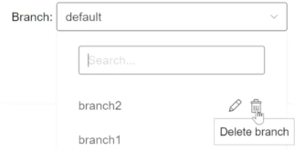 Now you can rename or delete branches
