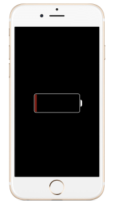 iphone ecran noir recharge batterie