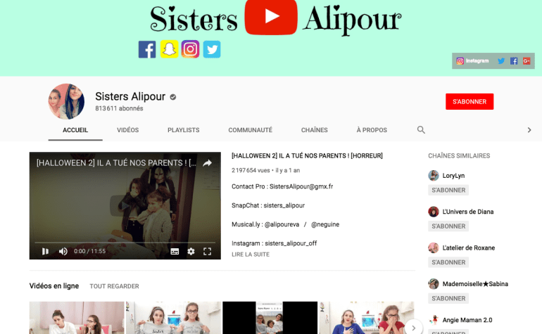 chaine Sisters Alipour