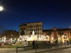 Sevilla at night.
