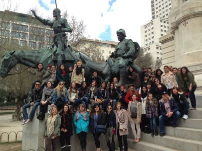 Group photo with Don Quixote & Sancho Panza