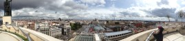 Panoramic view of Madrid from top of Circulo de Bellas Artes