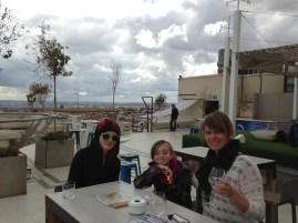 Enjoying drinks and tapas on top of Circulo de Bellas Artes. The rain finally stopped!
