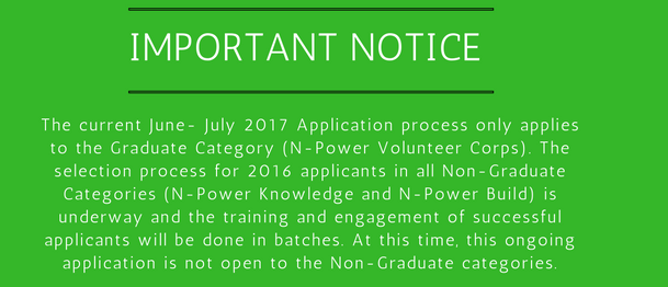 Important notice about Npower teach registration