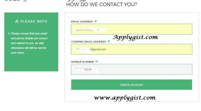 How to fill Npower Ng contact details success 2017