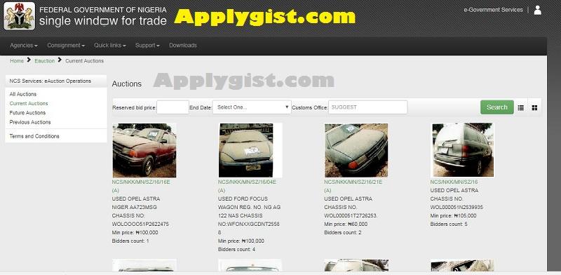 Nigeria Customs Service e-auction