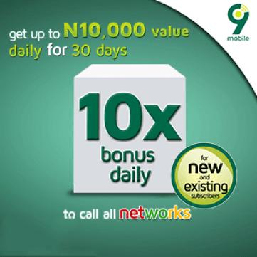 9mobile daily bonus for 30 days