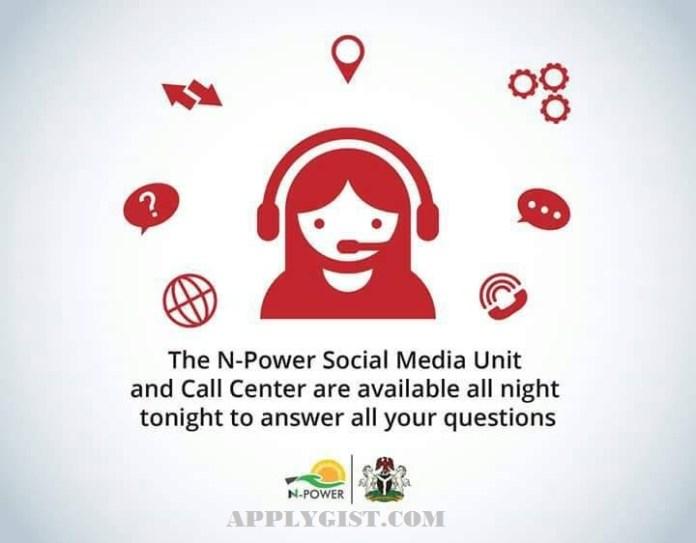 Check Npower pres-elected Volunteers