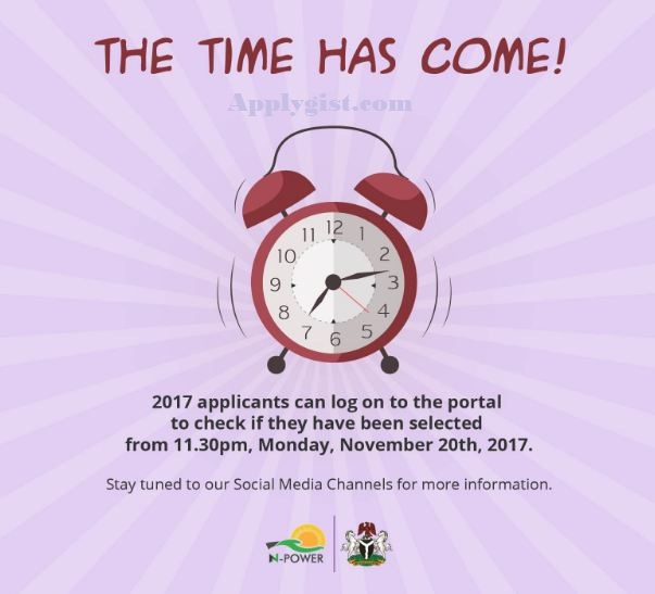 Check Npower list Monday November 20th 2017