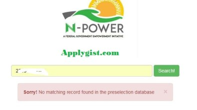 Npower Power show not Selected