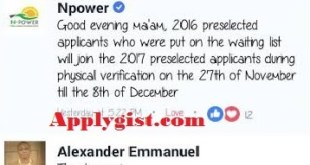 Npower 2016 Pending List Joins 2017 List