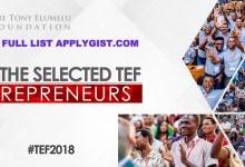 Full List Tony Elumelu Foundation Winners 2018