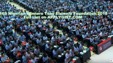 169 Nigerian Winners Tony Elumelu Foundation 2018
