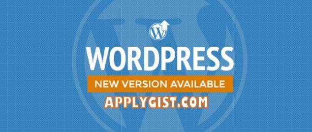 Upgrade New Version WordPress 4.9.5