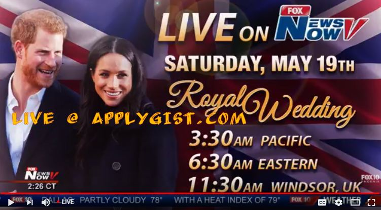 Stream Live Royal Wedding Harry and Meghan Markel