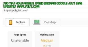 Google updates July page speed score