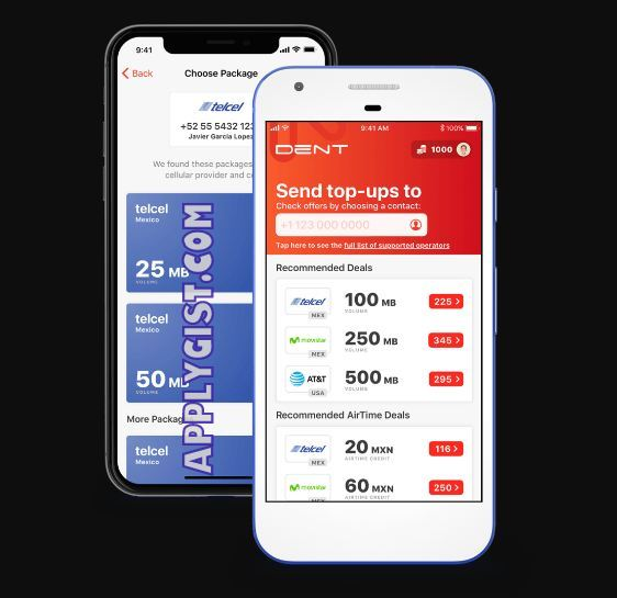 Dent Free Mobile Data App applygist.com