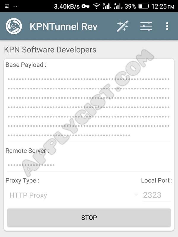 KPN Tunnel Revolution Settings for MTN 0.0k Cheat