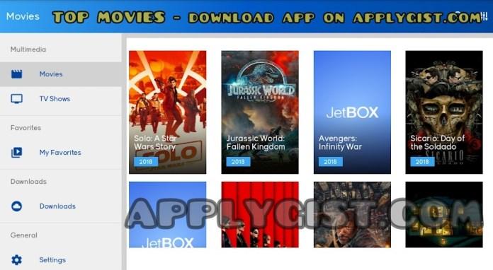 Top trending movies on JetBOX App