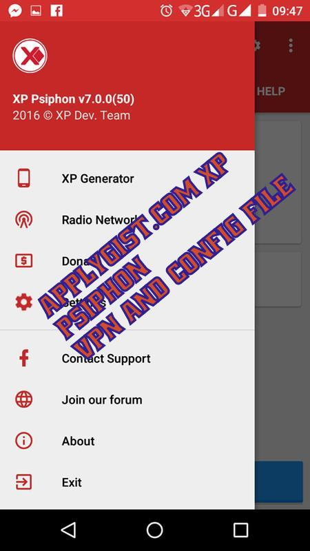 XP PSIPHON APK VPN (Applygist.com)