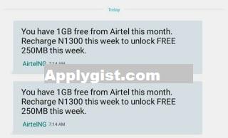 Airtel Recharge Plus 1GB Data