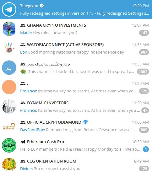 Most Productive Telegram Group Channels 2018