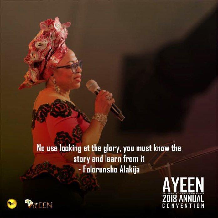 A.Y.E Trust Fund was done byMrs. Folorunsho Alakija