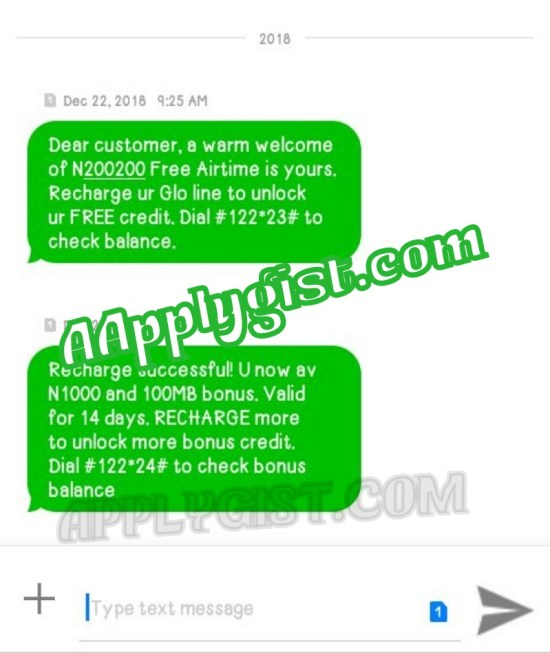Subscription GLO N200 Plan Of 1.2GB to 14 Days