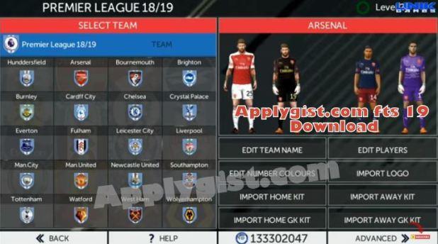 fts mod 19 team squard selection