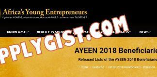 AYEEN 2018 Beneficiaries