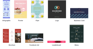 Countless templates for posters, social media, infographic