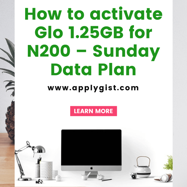 ow to activate Glo 1.25GB for N200