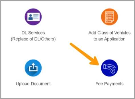 fees for learning license button